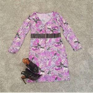 Tracy Negoshian Reversible Purple Elena Dress L